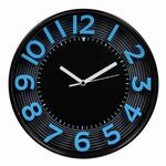 Orologio da parete 3D - diametro 30,3cm - blu/nero - Methodo