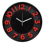 Orologio da parete 3D - diametro 30,3cm - rosso/nero - Methodo