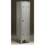 Armadio metallo - spogliatoio - 1 posto - 38x35x180 cm - grigio - Tecnical 2