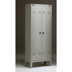 Armadio metallo - spogliatoio - 2 posti - 70x35x180 cm - grigio - Tecnical 2