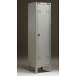 Armadio metallo - spogliatoio - 1 posto - con divisorio - 43x47x180 cm - grigio - Tecnical 2