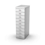 Cassettiera in acciaio - 9 cassetti - 29x43x97 cm - grigio - Tecnical 2