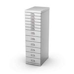 Cassettiera in acciaio - 12 cassetti - 29x43cm - H97cm - grigio - Tecnical 2