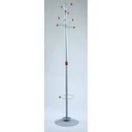 Appendiabiti Dallas con portaombrelli - 8 posti - 180x40 cm - grigio - Unisit
