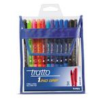 Penna a sfera Tratto1 Grip - 12 colori assortiti - punta 1,0mm - Tratto - busta 12 penne