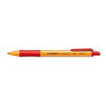 Penna a sfera a scatto Pointball Green - tratto 0,5mm - rosso  - Stabilo