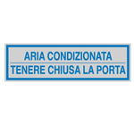 Targhetta adesiva - ARIA CONDIZIONATA... - 165x50 mm - Cartelli Segnalatori