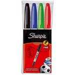 Marcatore Permanente fine RT a cappuccio - punta fine 1,0mm - Astuccio 4 colori  - Sharpie