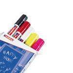 Marcatore Ending 4090 - punta scalpello da 4,00-15,00mm  - astuccio 5 colori: nero,rosso,bianco,giallo fluo,rosa fluo - Edding