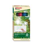 Marcatore per lavagne bianche 28 EcoLine - punta conica da 1,50-3,00mm - astuccio 4 colori - Edding