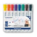 Pennarelli Lumocolor 351 - 8 colori - punta 2,0mm - per lavagne cancellabili - Staedtler - busta 8 pennarelli