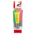 Evidenziatore stabilo Neon - punta a scalpello - tratto da 2,0-5,0mm - astuccio 4 colori: giallo, verde, rosa, arancio - Stabilo