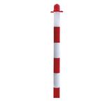 Paletto per colonnina di sicurezza - bianco/rosso - altezza 90 cm