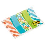 Segnapagina Post it® Index Mini - motivi Geometrici - 12x43,2 mm - Post it® - conf. 100 pezzi