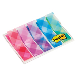 Segnapagina Post it® Index Mini - motivi Scozzesi - 12x43,2 mm - Post it® - conf. 100 pezzi
