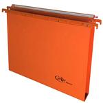 Cartella sospesa Joker - cassetto - interasse 39 cm - fondo U 3 cm - 37x25 cm - arancio - Bertesi