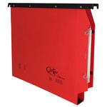 Cartella sospesa Joker - armadio - interasse 33 cm - fondo U 3 cm - 32,6x28 cm - rosso - Bertesi