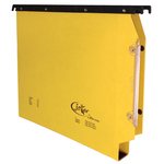 Cartella sospesa Joker - armadio - interasse 33 cm - fondo U 3 cm - 32,6x28 cm - giallo - Bertesi