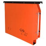Cartella sospesa Joker - armadio - interasse 33 cm - fondo U 3 cm - 32,6x28 cm - arancio - Bertesi