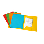 Cartelline 3 lembi - con stampa - 200 gr - 24x32 cm - mix 5 colori - Fraschini - conf. 25 pezzi