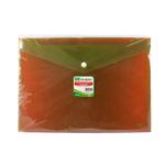 Buste con bottone - PPL - 33,5x23.5 cm - mix 3 colori fluo - Lebez - conf. 3 pezzi