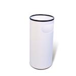 Portaombrelli PS66 - plastica - 22 litri - diametro 25 cm - altezza 52 cm - bianco - Presbitero