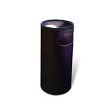 Portaombrelli PS66 - plastica - 22 litri - diametro 25 cm - altezza 52 cm - nero - Presbitero