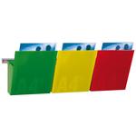 Kit Vision Kanban - larghezza 75 cm - 3 tasche A4 (rosso, giallo, verde) - Studio T