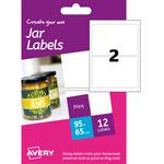 Etichetta adesiva hjj01 carta glossy 6fg a6 64x95mm (2et/fg) inkjet avery