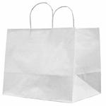 Shopper in carta - maniglie cordino - 32 x 20 x 33cm - avorio - conf. 25 sacchetti