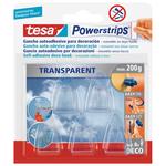 Blister 5 ganci deco trasp+ 8 strisce biadesive POWERstrips® tesa