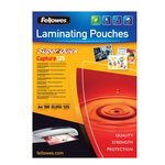 Pouches Capture125 Superquick - A4 - 216x303 mm - 2x125 micron - Fellowes - scatola 100 pezzi