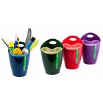 Bicchiere portapenne 2 in 1 - 8x17 cm - mix 4 colori - Lebez