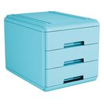 Mini cassettiera - 17,7x25,4x17 cm - 3 cassetti da 4 cm - azzurro - Arda