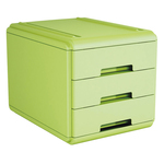 Mini cassettiera - 3 cassetti - verde - Arda