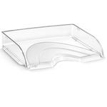 Vaschetta portacorrispondenza - apertura frontale - 26x35,1x6,9 cm - trasparente crystal - Cep