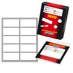 Etichetta adesiva - permanente - rettangolare - 56x26 mm - 10 etichette per foglio - 10 fogli per busta - bianco - Markin