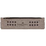 Bustina portapenne grip - 21x6cm - melange sabbia - Faber Castell