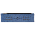Bustina portapenne grip - 21x6cm - melange blu avio - Faber Castell