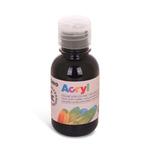 Colore acrilico fine Acryl - 125ml - nero - Primo