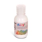 Colore acrilico fine Acryl - 125ml - bianco - Primo