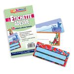 Busta 12 etichette adesive segnanomi - 6,3x8cm - fantasie assortite - Ri.plast