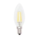 Lampada - Led - candela - C35 - a filamento - 4W - E14 - 3000K - luce calda - MKC