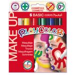Tempera solida Make Up  - cosmetica - Playcolor - astuccio 6 colori brillanti