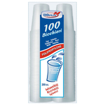 100 bicchieri 200cc in pp trasparente dopla