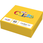50 tovaglioli carta 33x33cm 2 veli giallo dopla
