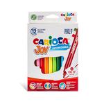 Pennarelli Joy - punta 2,6mm - colori assortiti - lavabili - Carioca - scatola 12 pezzi
