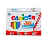 Scatola 24 pennarelli joy lavabili colori assortiti carioca