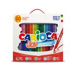 Scatola 60 pennarelli Joy - colori assortiti - lavabili - Carioca