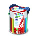 Barattolo 50 pennarelli Jumbo - colori assortiti - lavabili - Carioca
